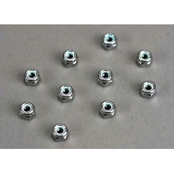 Nuts, 4mm nylon locking (10)