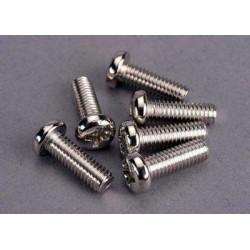 Screws, 4x12mm roundhead...