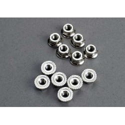 Nuts, 3mm flanged (12)