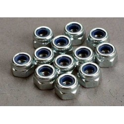 Nuts, 3mm nylon locking (12)