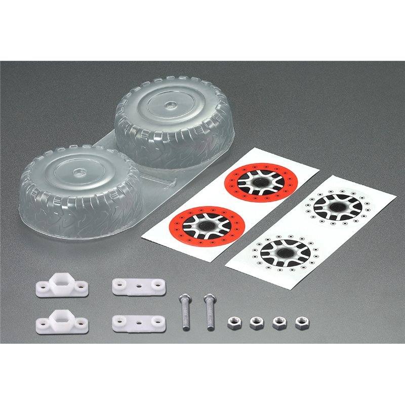 KB48038 -Spare Tire set, Clear lexan (for 1/10 SCT)