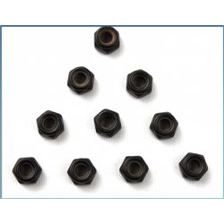 120964 - M3 Lock Nut black (10pcs) - S10