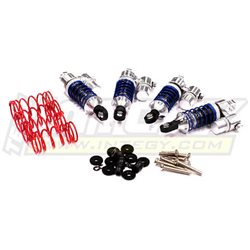 T3460SILVER - Billet Machined Piggyback Shock Set (4)