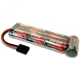 Stickpack 4600mAh, 7 cell,    8.4V, Flat, NiMH, Traxxas plug