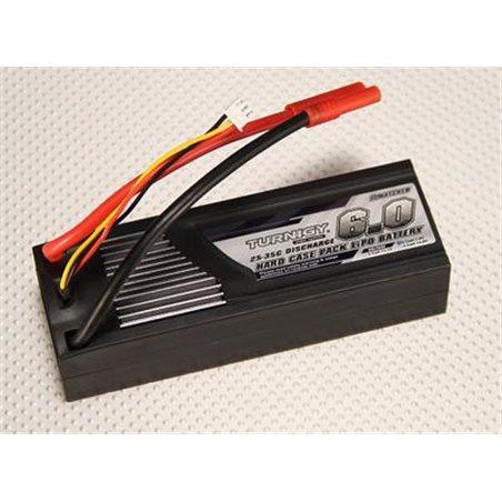 Turnigy 6000mAh 2S2P 7.4v 25C hardcase pack TRX Stekker