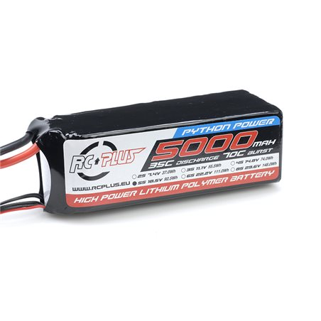 Li-Po Batterypack - Python Power 25C - 5000 mAh - 4S1P - 14.8V - Deans Connector