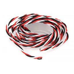 GF-13050-001 - Servodraad gedraaid, 22AWG, rood,wit, zwart. 2meter