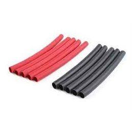 GF-1460-003 - Krimpkous 4.7mm, zwart/rood 10stk
